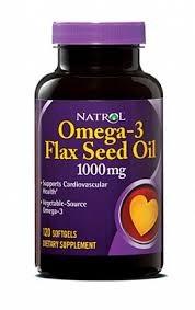 Natrol - Omega-3 Flax Seed Oil (90гел.капс) - фото 4867