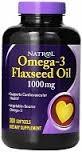 Natrol - Omega-3 Flax Seed Oil (120гел.капс) - фото 4868