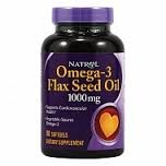 Natrol - Omega-3 Flax Seed Oil (200гел.капс) - фото 4869