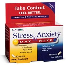 Natrol - Stress & Anxiety Day+Nite (30+30таб) - фото 4874