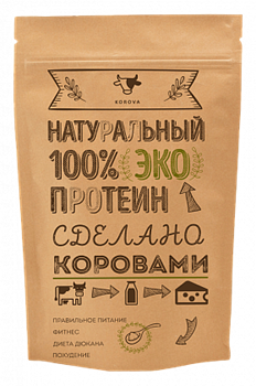 Korova - Натуральный 100% ЭКО Протеин (600 гр) - фото 5123