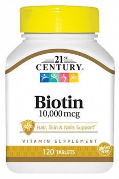 21st Century Biotin 10,000 mcg (120таб) - фото 5141