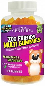 21st Century ZOO Friends Multi Gummies (150жев.таб) - фото 5145