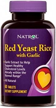 Natrol - Red Yeast Rice with Garlic (60таб) - фото 5149