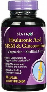 Natrol - Hyaluronic Acid MSM & Glucosamine (90капс) - фото 5159