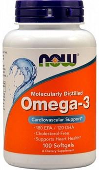 NOW - Omega 3 1000 mg (100гел.капс) - фото 5163