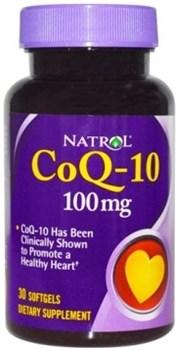 Natrol - CoQ-10 100 mg (30гел.капс) - фото 5455