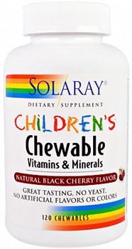 Solaray CHILDRENS Chewable Vitamins & Minerals (120жев.таб) - фото 5617
