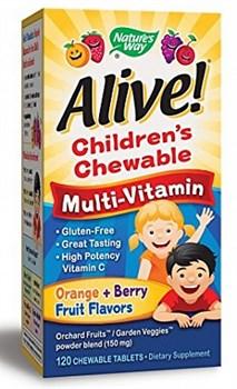 Nature's Way Alive! Children`s Multi-Vitamin (120жев.таб) - фото 5899