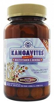 Solgar Kangavites complete multivitamin & mineral (120жев.таб) - фото 5900