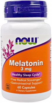 NOW - Melatonin 3 mg (60капс) - фото 6006