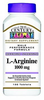21st Century L-Arginine 1000mg (100таб) - фото 6013