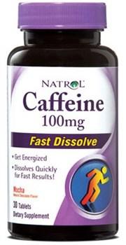 Natrol - Caffeine Fast Dissolve 100mg (30таб) - фото 6017