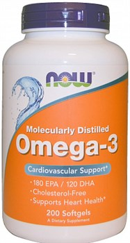 NOW - Omega 3 1000 mg (200гел.капс) - фото 6021