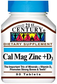 21st Century Cal Mag Zinc+D3 (90таб) - фото 6399
