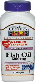 21st Century Fish Oil 1200mg (90капс) - фото 6403