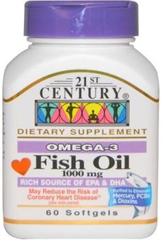 21st Century Fish Oil 1000mg (60таб) - фото 6432