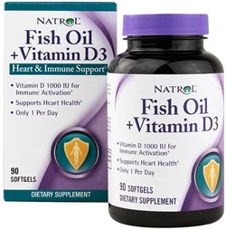 Natrol - Fish Oil & Vitamin D3 (90гел.капс) - фото 6497