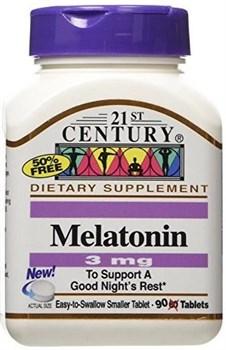 21st Century Melatonin 3mg (90таб) - фото 6511