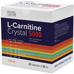 LIQUID & LIQUID - L-Carnitine Crystal 5000 (20x25мл) - фото 6521
