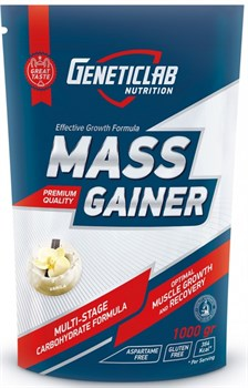 GeneticLab Nutrition - Mass Gainer (1000гр) - фото 6585