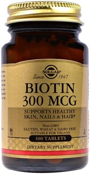 Solgar Biotin 300mcg (100таб) - фото 6616