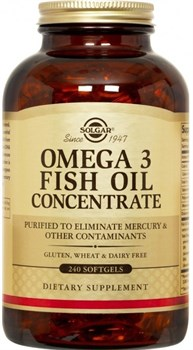 Solgar Omega 3 Fish Oil Concentrate (240капс) - фото 6666
