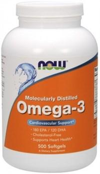 NOW - Omega 3 1000 mg (500гел.капс) - фото 6677