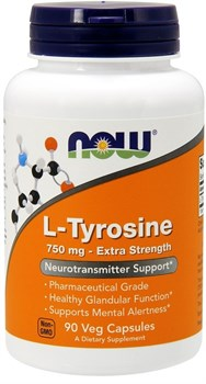 NOW L-Tyrosine 750mg (90капс) - фото 6686
