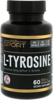 California GOLD Nutrition L-Tyrosine 500mg (60капс) - фото 6697