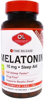 Olympian Labs - Melatonin Time Release 10mg (60таб) - фото 8089