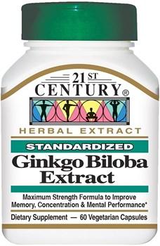 21st Century Ginkgo Biloba Extract (60капс) - фото 8106