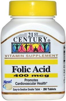 21st Century Folic Acid 400mcg (250таб) - фото 8112