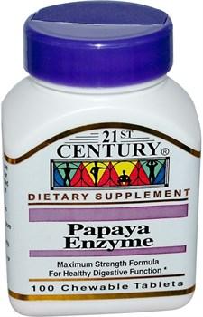 21st Century Papaya Enzyme (100жев.таб) - фото 8124