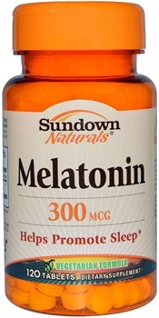 Sundown Naturals Melatonin 300mcg (120таб) - фото 8139