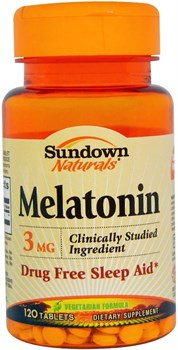 Sundown Naturals Melatonin 3mg (120таб) - фото 8150