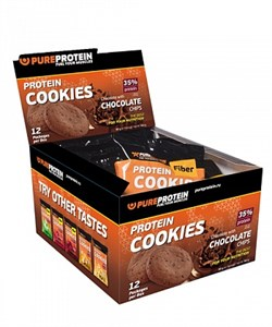 PureProtein - Protein Cookies 35% Protein (12x80гр) - фото 8188