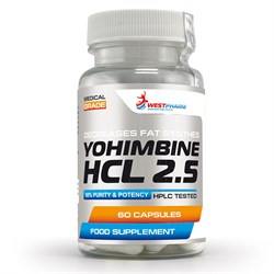 WESTPHARM Yohimbine HCL 2.5 (60капс) - фото 8283