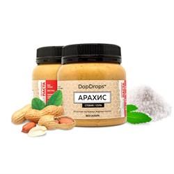 DopDrops Протеиновая паста Арахис (морская соль, стевия) (250гр) - фото 8410