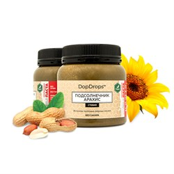 DopDrops Протеиновая паста Подсолнечник Арахис (стевия) (250гр) - фото 8422