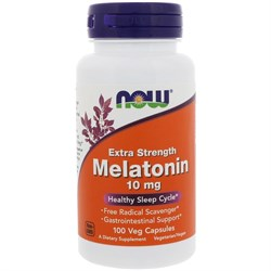 NOW - Extra Strength Melatonin 10 mg (100 капс) - фото 8515