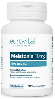 EuroVital Melatonin 10 mg Time Release (60вег.таб) - фото 8565