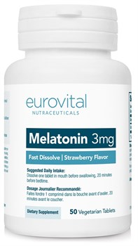 EuroVital Melatonin 3 mg Fast Dissolve (50вег.таб) - фото 8568