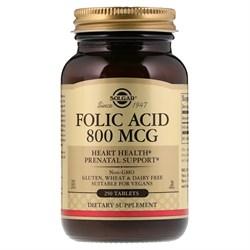 Solgar Folic Acid 800mcg (250таб) - фото 8573