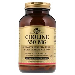 Solgar Choline 350mg (100вег.капс) - фото 8575