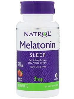 Natrol - Melatonin 3mg Fast Dissolve (90таб) - фото 8577