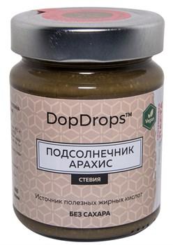 DopDrops Протеиновая паста Подсолнечник Арахис стекло (стевия) (265гр) - фото 8595