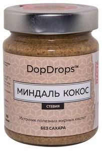 DopDrops Протеиновая паста Миндаль Кокос стекло (стевия) (265гр) - фото 8598