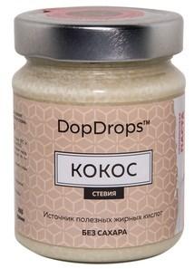 DopDrops Протеиновая паста Кокос стекло (стевия) (265гр) - фото 8601