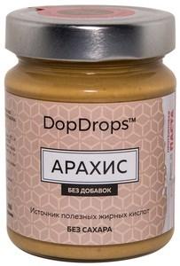 DopDrops Протеиновая паста Арахис стекло (без добавок) (265гр) - фото 8612